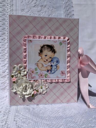 baby girl scrapbook mini album authentique collection