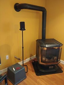Dragon Oil Stove, Pre-fab Chimney, and Double Wall Oil Tank