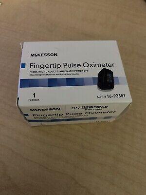 Mckesson Fingertip Pulse Oximeter 16-93651 Pediatric To Adult