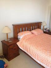 Pine Queen Bed with high-quality mattress South Brisbane Brisbane South West Preview
