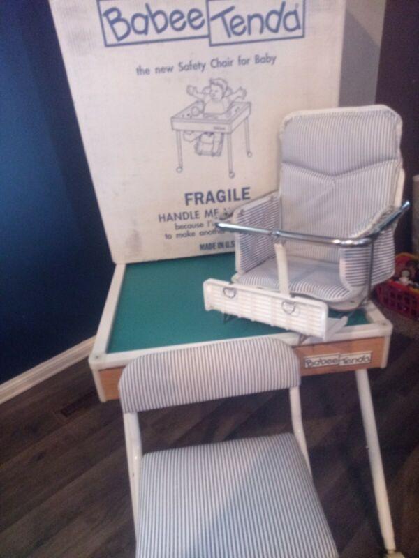 Vintage High Chair BABEE TENDA Feeding Table Activity Table with Original Box