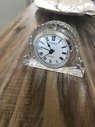Shannon Irish Crystal Glass Desk Table Quartz Clock 24% lead Ireland