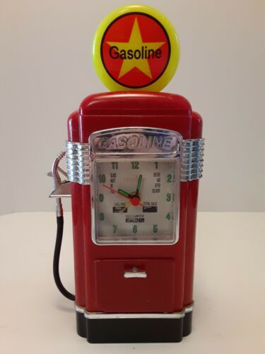 Vintage Gas Pump Alarm Clock Self Serve Bank Teltime JS-02 Play Blue Swede shoes