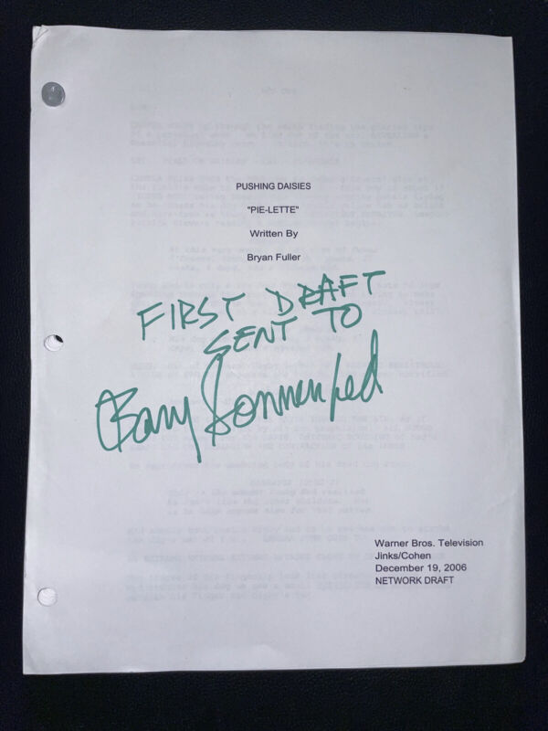 BARRY SONNENFELD PERSONAL SIGNED 1st DRAFT SCRIPT PUSHING DAISIES SIGNED