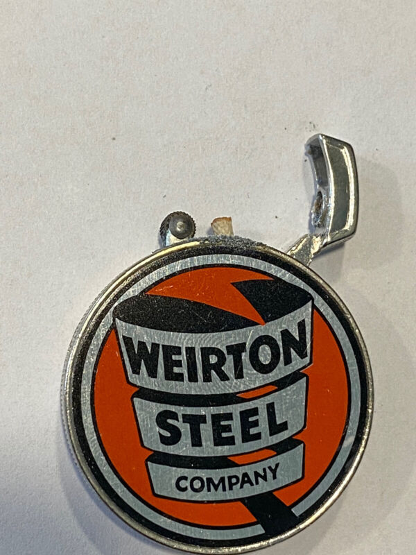 Vintage Beckwith Co. Weirton Steel Lighter Never Used Original Case Very Rare
