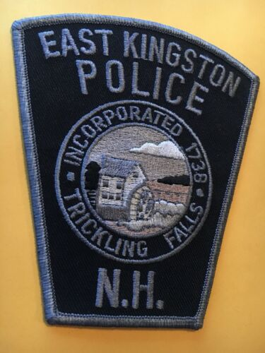 East Kingston New Hampshire Police Patch subdued