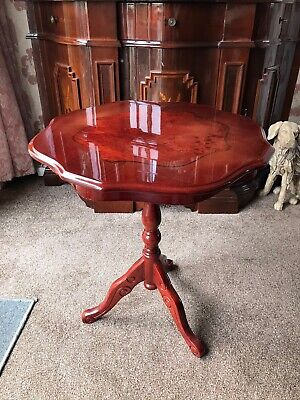 MAHOGANY WINE TABLE - OCCASIONAL LAMP DISPLAY -