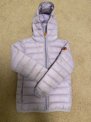 Girl's Save the Duck Ultra Lightweight Hooded Jacket -- size 8