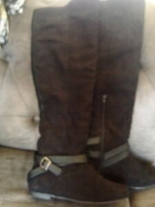 New Ladies Size 7 Over The Knee Suede Boots