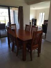Dining table and 6 chairs - all wood Connewarre Geelong City Preview