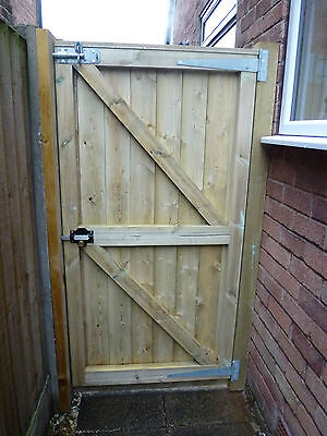 Barrel Board Framed Garden Gate. 6ft  high x up to 4ft wide