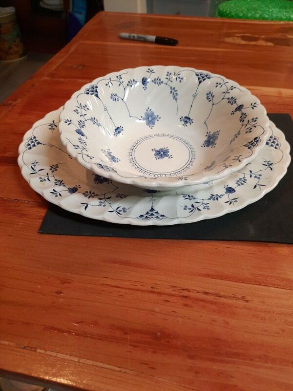 Myott Staffordshire FINLANDIA Round Serving Bowl & Platter
