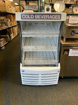 Beverage Air Bz13-1-w 30 White Open Air Refrigerated Display Case Grab And Go