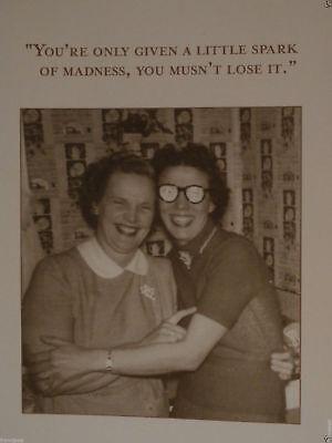 HAPPY BIRTHDAY Madness Insane Spark Funny Classic Black & White Humor CARD