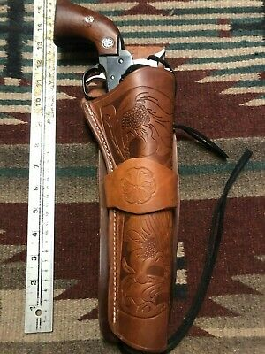 """Fit Colt Uberti Army 1860 1851 Navy Revolver 8"""" Western Drop Tan Leather Holster for sale  Las Cruces"""