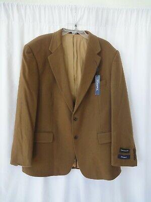 Cashmere Lined Sport Coat (Haspel Mens Sport Coat Blazer Jacket Sz 46L 100% Cashmere Lined camel Brown)