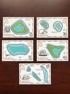 Kiribati Postage Stamps 1986 Scott #475-479 Islands Maps, Bird, Crab, Boat MNH