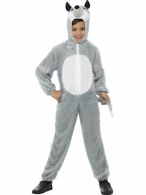 Wolf Childrens Girls / Boys Fancy Dress Book Week Costume Kids Animal Big Bad - Big Bad Wolf Girl Costume