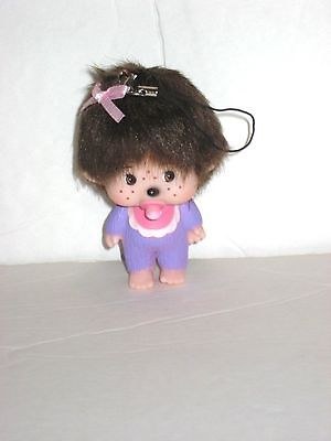 "MONCHHICHI KEY CHAIN / PENDANT,PURPLE,  3.5"" TALL"