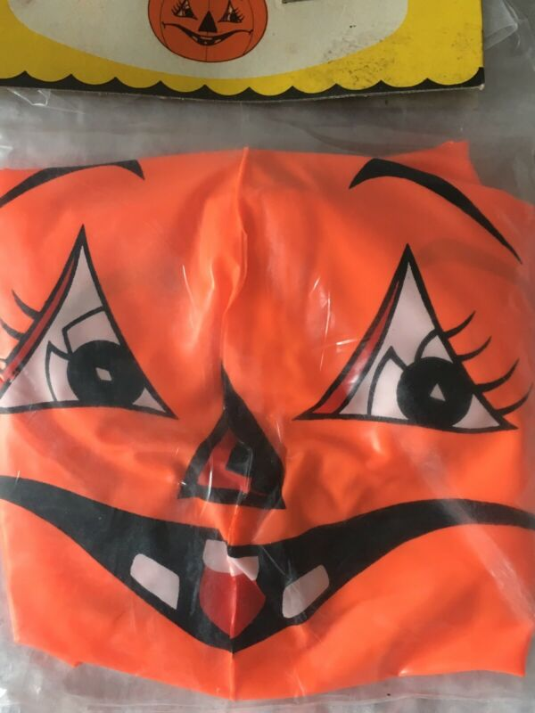 NOS Vintage Jack O Lantern PUMPKIN Scary Cute Inflatable In Orig Package