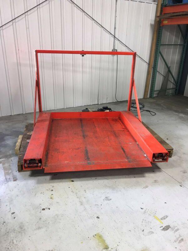 """Floor Level Low-Profile Zero Pallet Jack Scissor Lift 39"""" rise 60"""" long"""