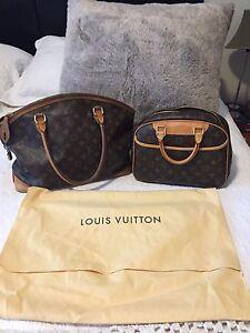 Authentic Louis Vuitton lockit GM and Trouville