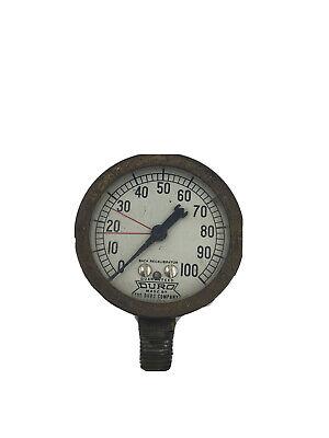 Vintage 2.5 Brass Duro Co Dayton Ohio Pressure Gauge Untested Steampunk
