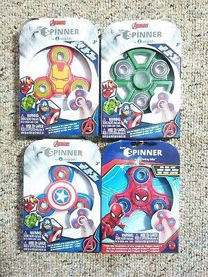 4 (Lot) Marvel Avengers Spinners - Hulk, Iron Man & Spider Man No Reserve