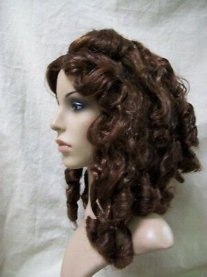 Dark Brown Goddess Wig Ringlet Curls Southern Belle Drizella Scarlett O Hara Gal](Belle Wigs)