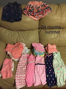 24 months girls summer clothing lot