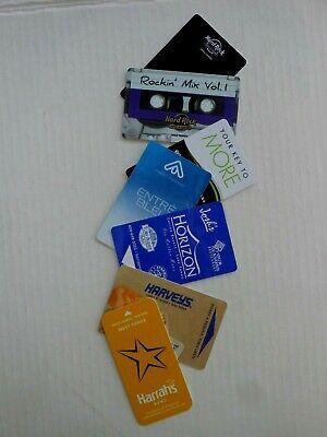 7 CASINO ROOM KEY CARDS LAKE TAHOE HARD ROCK MONTBLEU HORIZON HARVEYS & HARRAH'S