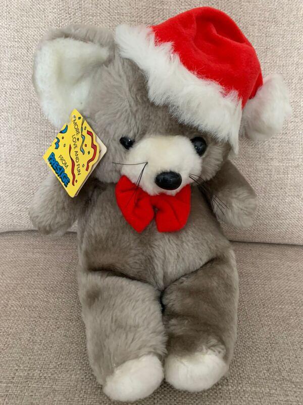 "Prestige Toy Co. Bear 🐻 Red Christmas 1985 VINTAGE Stuffed Animal 12"" Korea"