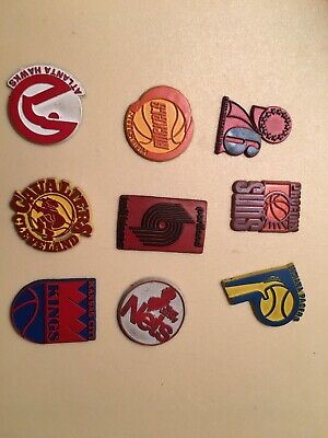 9 Vintage NBA Magnets Phoe,Indy,Port,Hous,Philly,Atl,Clev,Kansas City,New Jersey