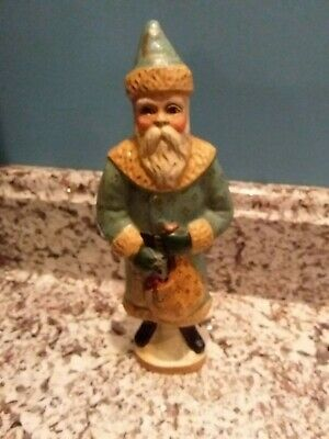 "Used, Vaillancourt Folk Art Santa - 1990 - #714 10"" Williamsburg Style for sale  Canton"