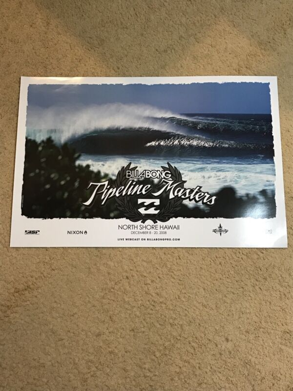 KELLY SLATER WINS THE 2008 BILLABONG PIPELINE MASTERS NORTH SHORE HAWAII POSTER