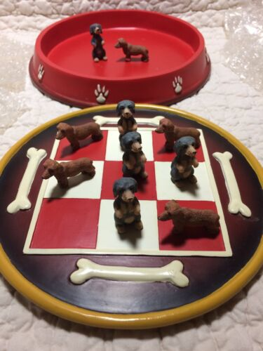 New Dachshund Dogs Tic-Tac-Toe Game Set