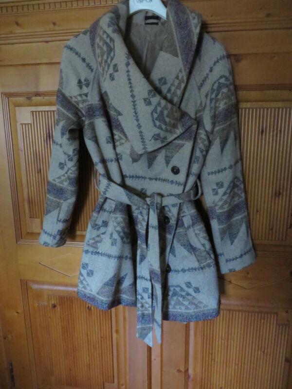 Jacke Damen Navajo Boho Azteken Indianer Muster Gr. M Hippie