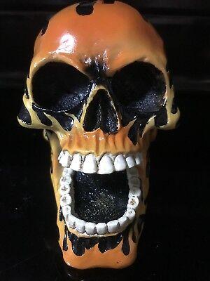 Deadstock Llameante Calavera Esqueleto Monedas Banco Hucha Flames Caja de Dinero