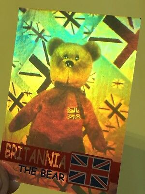 Ty Beanie Babies Trading Card Britannia The Bear Hologram, Series 2