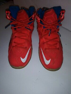 Nike Lebron Xll Size 7Y. Independence Day!  Red,White and