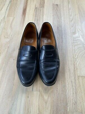 John Lobb Lopez Classic Black Penny Loafers Dress Shoes 8.5 E