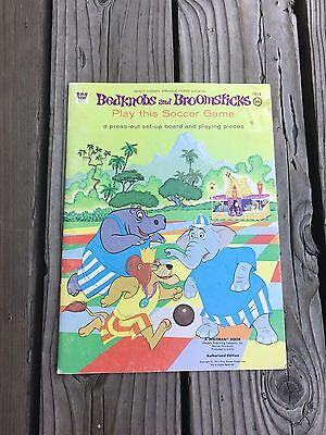 1971 WALT DISNEY'S BEDKNOBS AND BROOMSTICKS PAPER Soccer Game Book rare