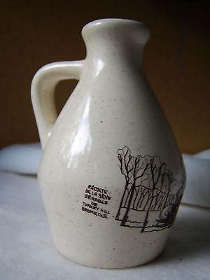 Handmade Stoneware Maple Syrup Jug / Turkey Hill Farm / Brome Quebec 3729, used for sale  Minneapolis