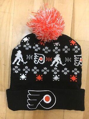 Philadelphia Flyers BEANIE CAP HAT EUC clean shape PROMO SGA FREE SHIPPING