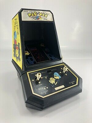 Vintage PAC-MAN Coleco Midway 1981 Mini Table Top Arcade Machine Tested Works