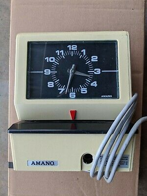Vintage Amano Time Recorder Model 3636 Made In Usa