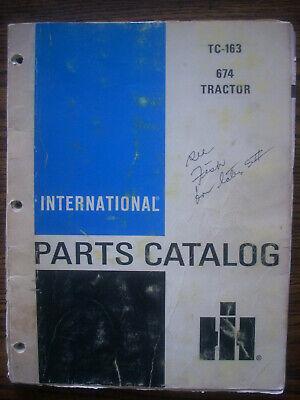 Ih Farmall Mccormick International 674 Parts Manual