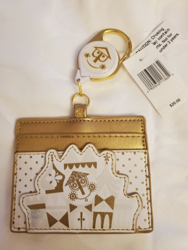 New Disney Parks Loungefly Its a Small World  Clip on Retractable ID holder