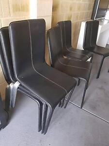 Leather Chairs with Solid frame