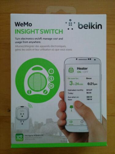 Belkin WeMo Insight Switch White/Gray F7C029FC